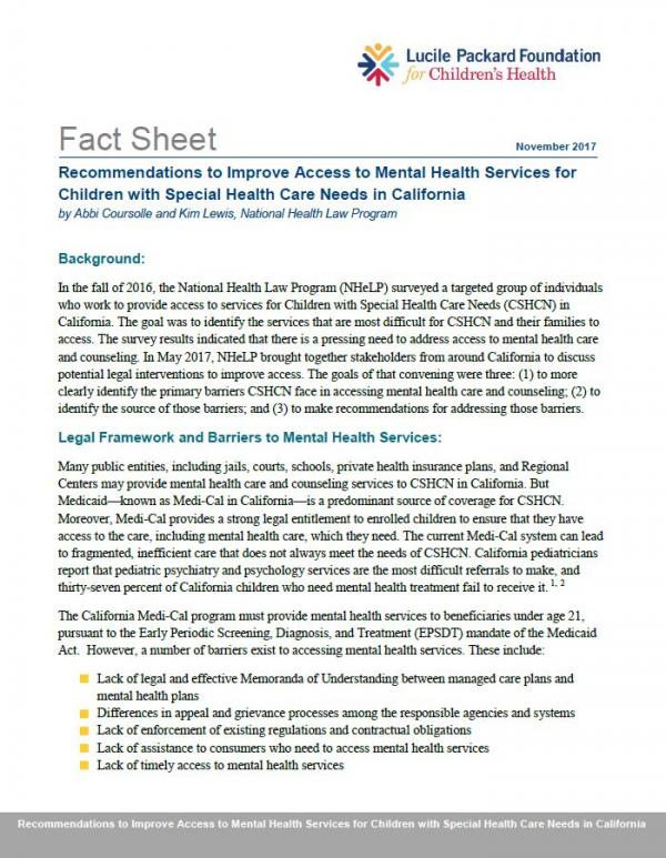 Cover of Fact Sheet