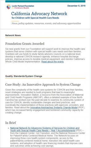 Image of Network Newsletter